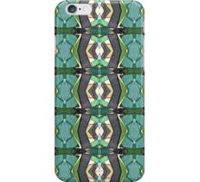 Green Geometric Abstract Pattern iPhone Case/Skin
