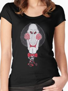 Horror Movie Puppet Caricature Women's Fitted Scoop T-Shirt