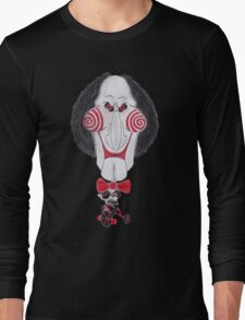 Horror Movie Puppet Caricature Long Sleeve T-Shirt