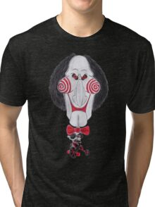 Horror Movie Puppet Caricature Tri-blend T-Shirt