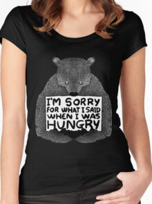 I'm Sorry For What I Said When I Was Hungry - Black Women's Fitted Scoop T-Shirt