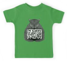 I'm Sorry For What I Said When I Was Hungry - Black Kids Tee