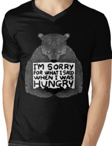 I'm Sorry For What I Said When I Was Hungry - Black Mens V-Neck T-Shirt