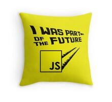 JS to the Future Throw Pillow