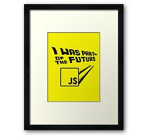 JS to the Future Framed Print