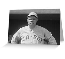 Babe Ruth - Red Sox Greeting Card