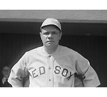 Babe Ruth - Red Sox Photographic Print