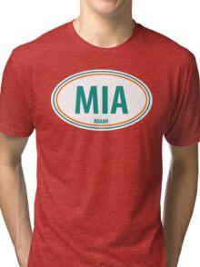 MIA - EURO STICKER Tri-blend T-Shirt