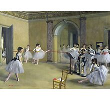Edgar Degas - The Dance Foyer At The Opera On The Rue Le Peletier Photographic Print