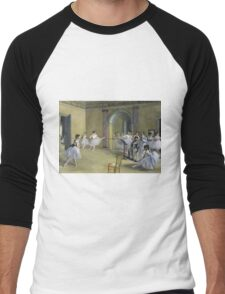 Edgar Degas - The Dance Foyer At The Opera On The Rue Le Peletier Men's Baseball ¾ T-Shirt