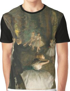 Edgar Degas - The Rehearsal Of The Ballet Onstage 1874 Graphic T-Shirt