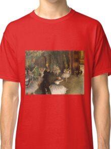 Edgar Degas - The Rehearsal Of The Ballet Onstage 1874 Classic T-Shirt
