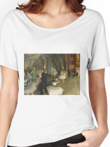 Edgar Degas - The Rehearsal Of The Ballet Onstage 1874 Women's Relaxed Fit T-Shirt