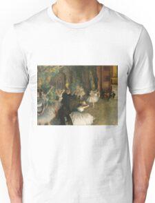 Edgar Degas - The Rehearsal Of The Ballet Onstage 1874 Unisex T-Shirt