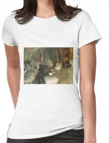 Edgar Degas - The Rehearsal Of The Ballet Onstage 1874 Womens Fitted T-Shirt
