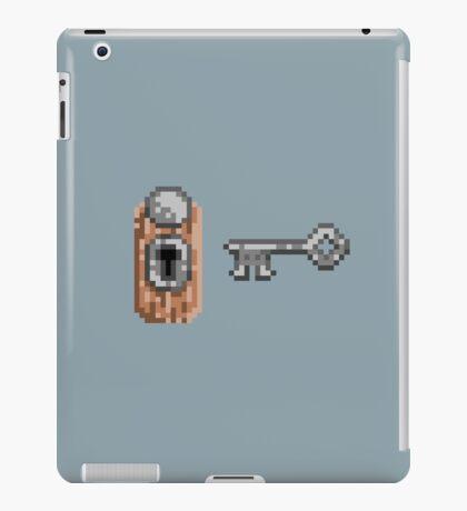 pixelized lock and key iPad Case/Skin