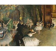 Edgar Degas - The Rehearsal Of The Ballet Onstage 1874 Photographic Print