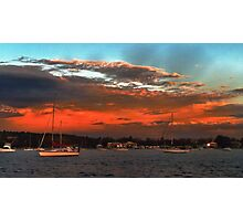 Nautical Bold Sunrise. Original exclusive photo art. Photographic Print