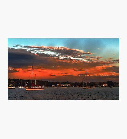 Nautical Bold Sunrise. Original exclusive photo art. Photographic Print