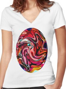 EjProject - Psychedelic 001 Women's Fitted V-Neck T-Shirt