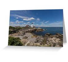 Clouds Over Portland Head Lighthouse Greeting Card
