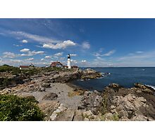 Clouds Over Portland Head Lighthouse Photographic Print