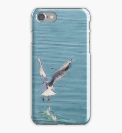 Seagull over the water iPhone Case/Skin
