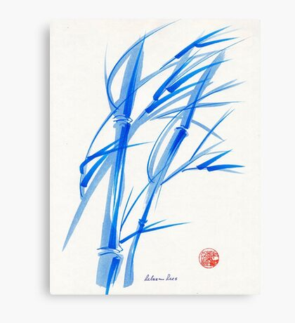 SOFT BREEZE - Original watercolor ink wash painting Canvas Print