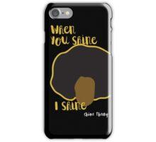 Shiny Theory (Black Case) iPhone Case/Skin