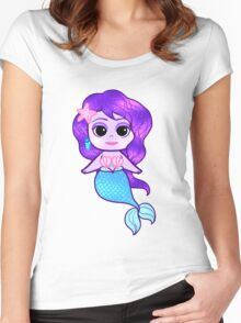 Glitter Mermaid Women's Fitted Scoop T-Shirt