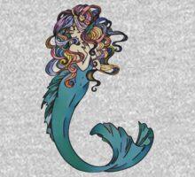 Colorful Mermaid Art One Piece - Long Sleeve