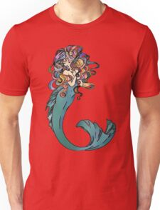 Colorful Mermaid Art Unisex T-Shirt