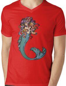 Colorful Mermaid Art Mens V-Neck T-Shirt