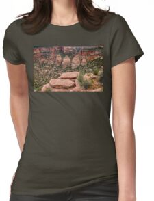 The Coke Ovens Rock Formation Western Landscape Womens Fitted T-Shirt