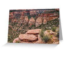 The Coke Ovens Rock Formation Western Landscape Greeting Card