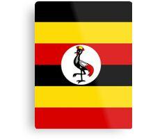 UGANDA (FLAG) Metal Print