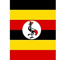 UGANDA (FLAG) Photographic Print