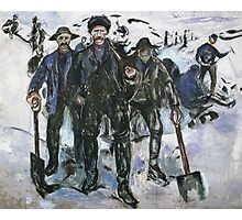Edvard Munch - Workers In The Snow 1913 Photographic Print