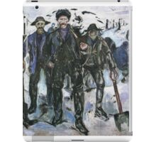 Edvard Munch - Workers In The Snow 1913 iPad Case/Skin