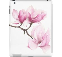 Watercolor Magnolia Blossoms iPad Case/Skin