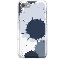 Pattern with ink and paint spots iPhone Case/Skin