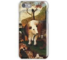 Edward Hicks - The Peaceable Kingdom1868  iPhone Case/Skin