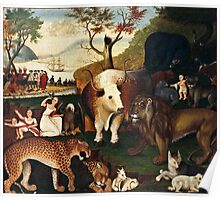 Edward Hicks - The Peaceable Kingdom1868  Poster