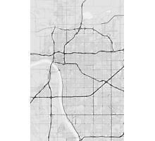 Tulsa, USA Map. (Black on white) Photographic Print