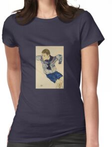 Egon Schiele - Boy In A Sailor Suit 1913 Womens Fitted T-Shirt