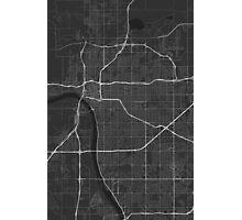 Tulsa, USA Map. (White on black) Photographic Print