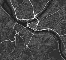 Pittsburgh, USA Map. (White on black) Sticker