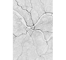 Pittsburgh, USA Map. (Black on white) Photographic Print