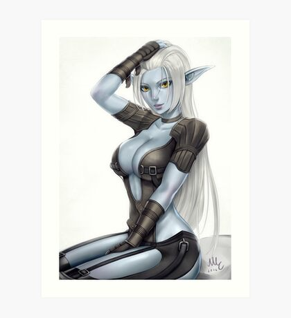 Dark Elf Art Print