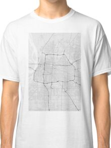 Memphis, USA Map. (Black on white) Classic T-Shirt